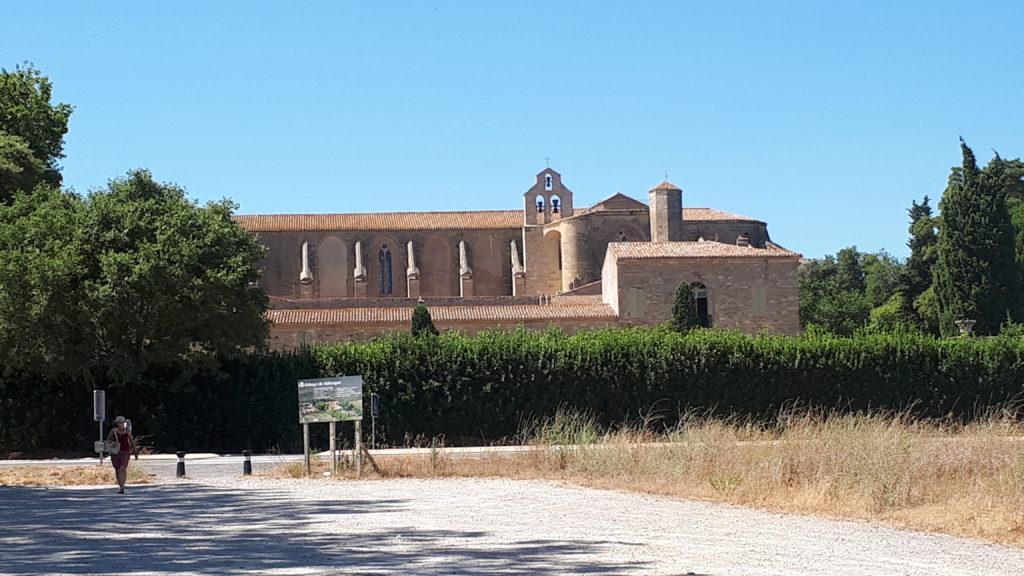 L'Abbaye de Valmagne vue de l'extérieur