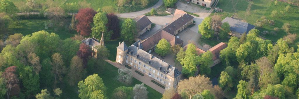 Le château de Preisch vu du ciel