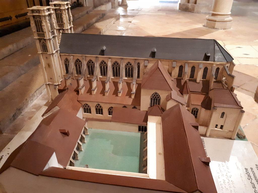 maquette de l'ensemble cathédral St-Vincent
